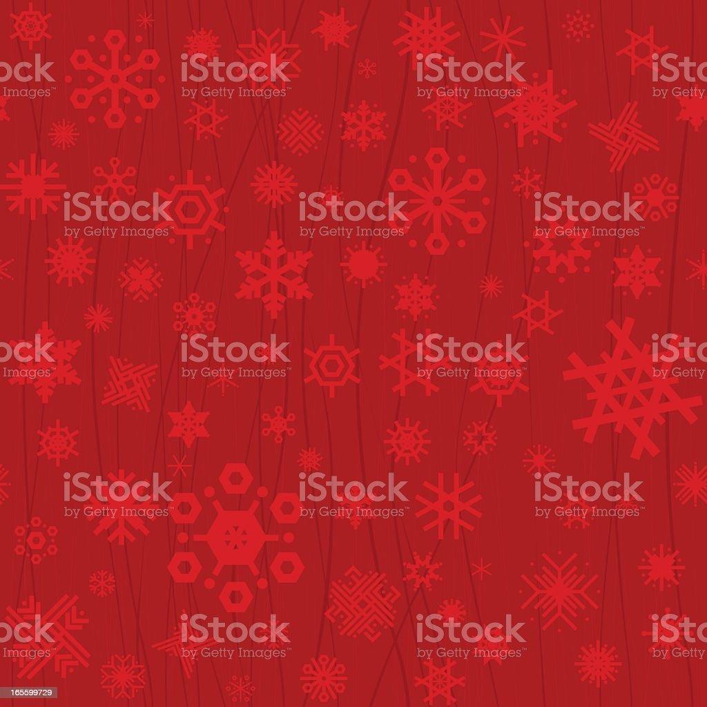 Red Christmas seamless snowflakes vector art illustration