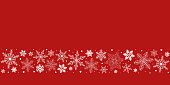 istock Red Christmas snowflakes background 1176207057