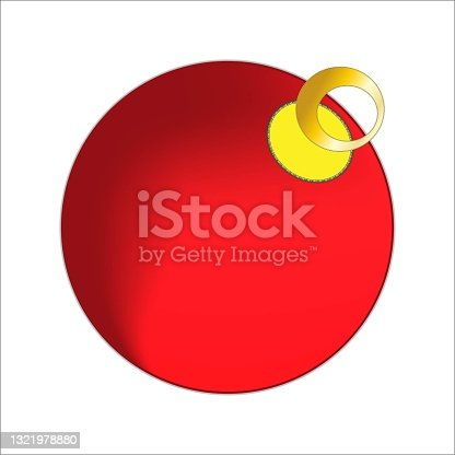 istock red christmas toy, ball, Christmas tree decoration 1321978880
