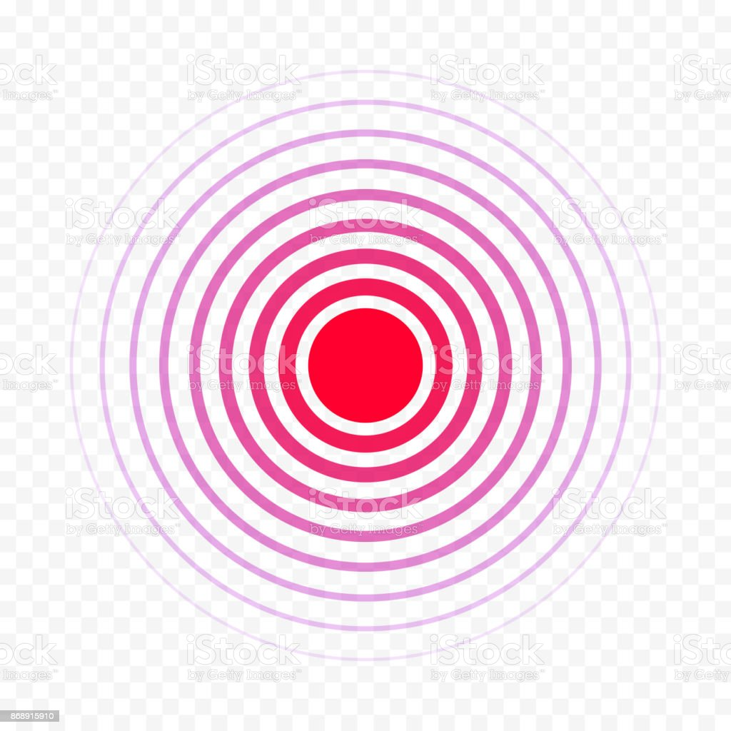 Red circle pain medical painkiller drug ache medicine vector isolated icon vector art illustration