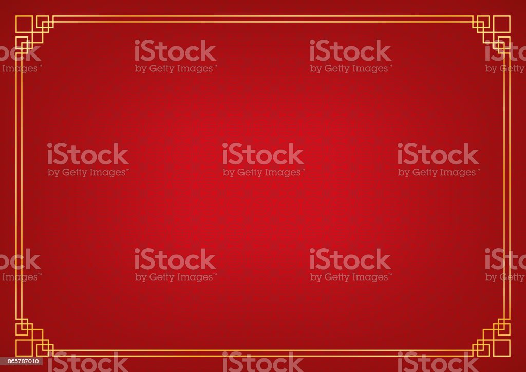 red circle pattern chinese abstract background - Векторная графика Абстрактный роялти-фри