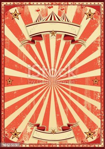 istock Red circus retro 464270797