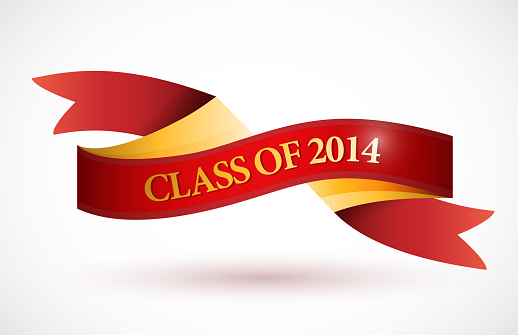 Red class of 2014 ribbon