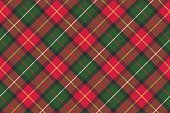 Red classic plaid pixel texture seamless pattern. Vector illustration.