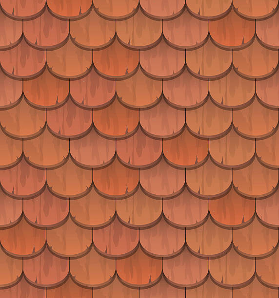 Vectores de teja de techo y illustraciones libre de for Roof tile patterns