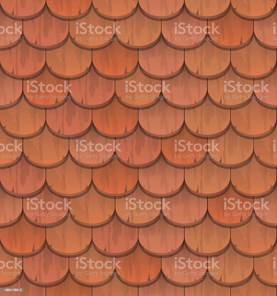 red clay roof tiles vector art