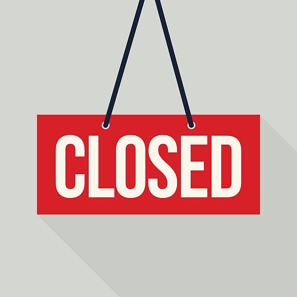 Red closed sign Red closed sign (EPS10) closed sign stock illustrations