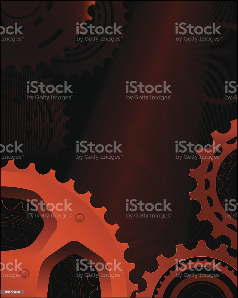 Red cogs royalty-free stock vector art