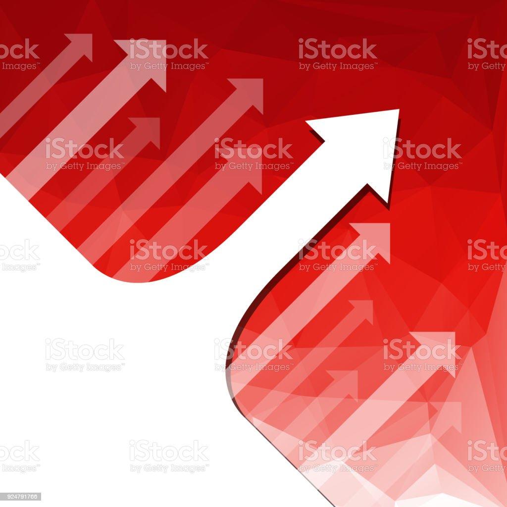 Rote Farbe Hintergrund Mit Weissen Richtung Pfeil Muster Verblassen