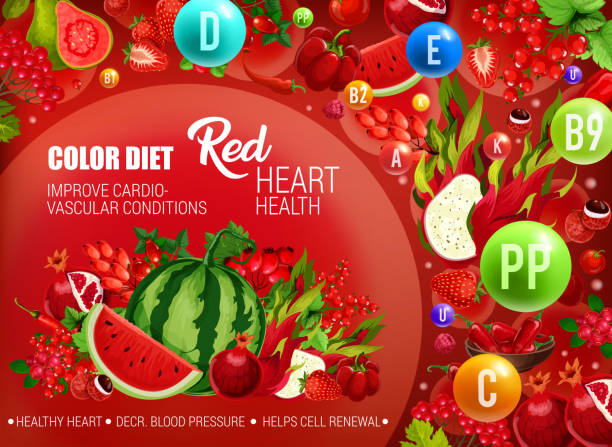 red color food diet, cancer prevention - vegetable blood stock illustrations, clip art, cartoons, & icons