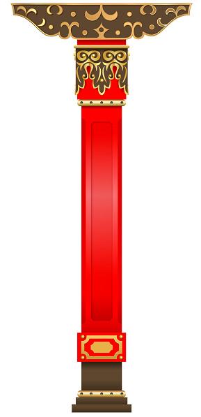 Red column of the Buddhist datsan