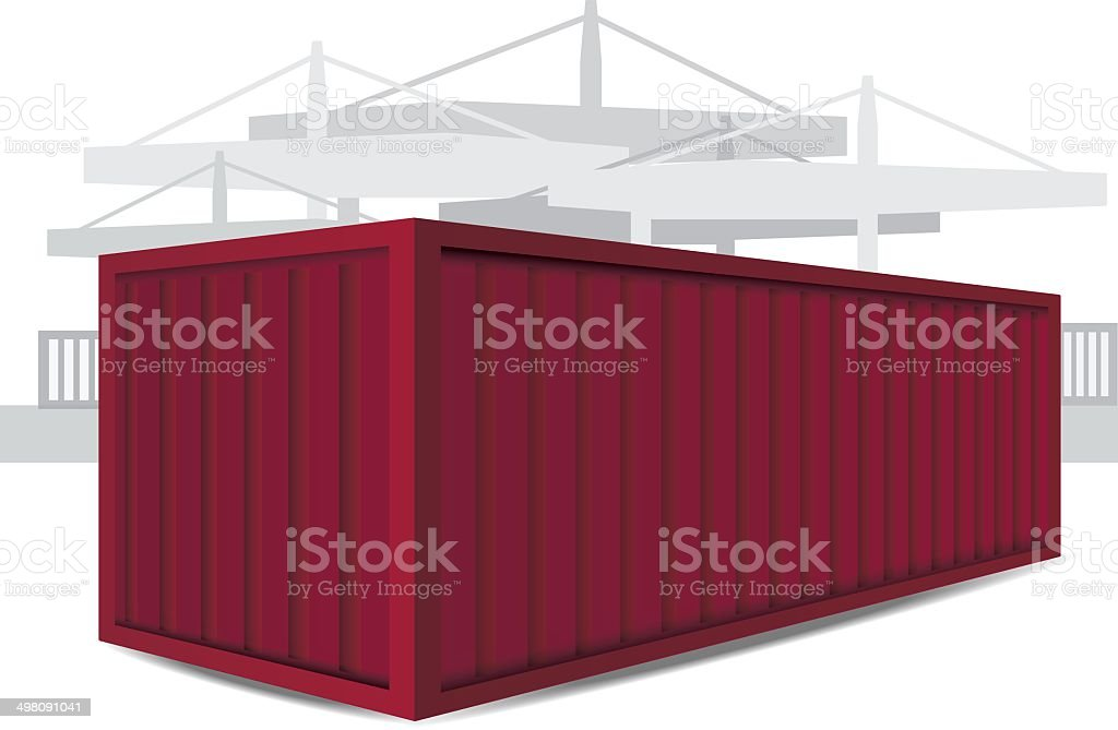 Red Container Vector Illustration vector art illustration