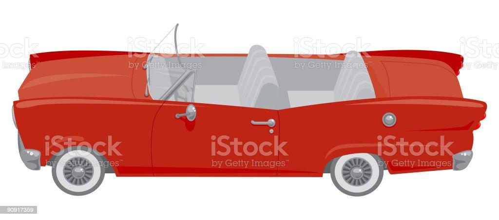 Red Convertible Car royalty-free stock vector art