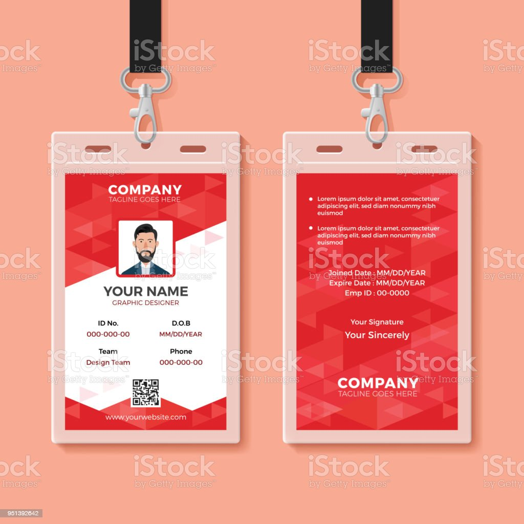 red corporate id card design template stock vector art  u0026 more images of abstract