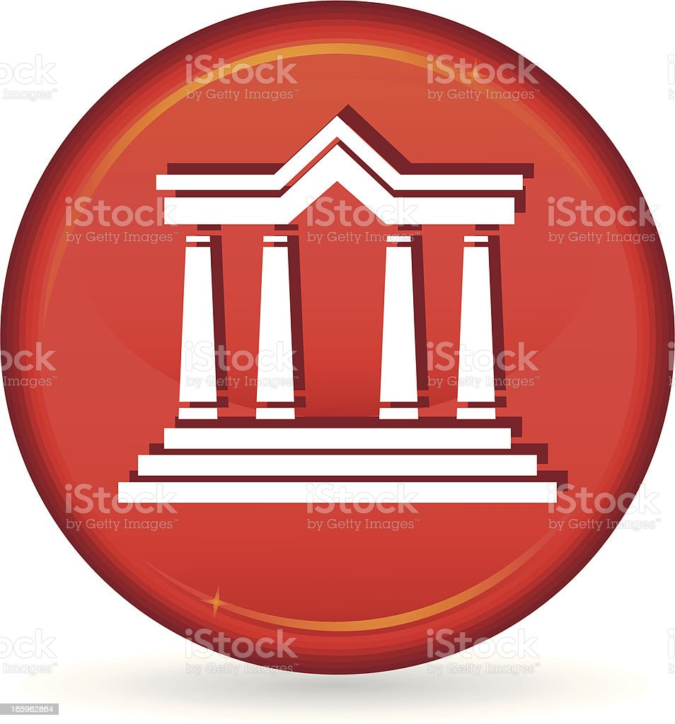 red courthouse icon royalty-free stock vector art