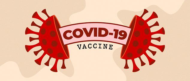 Red Covid-19 Bacteria Icon For Coronavirus Flu Vaccination Symbol