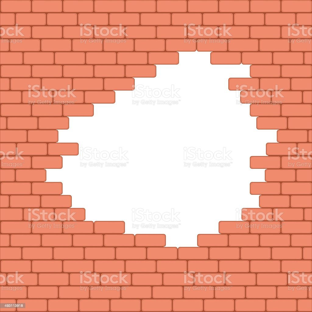 how to make a 4 hole in a brick wall