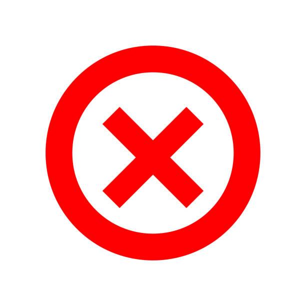 bildbanksillustrationer, clip art samt tecknat material och ikoner med röda korset på vit bakgrund. isolerad vektor illustration. cirkelform ingen knapp. negativa symbolen. - ärr