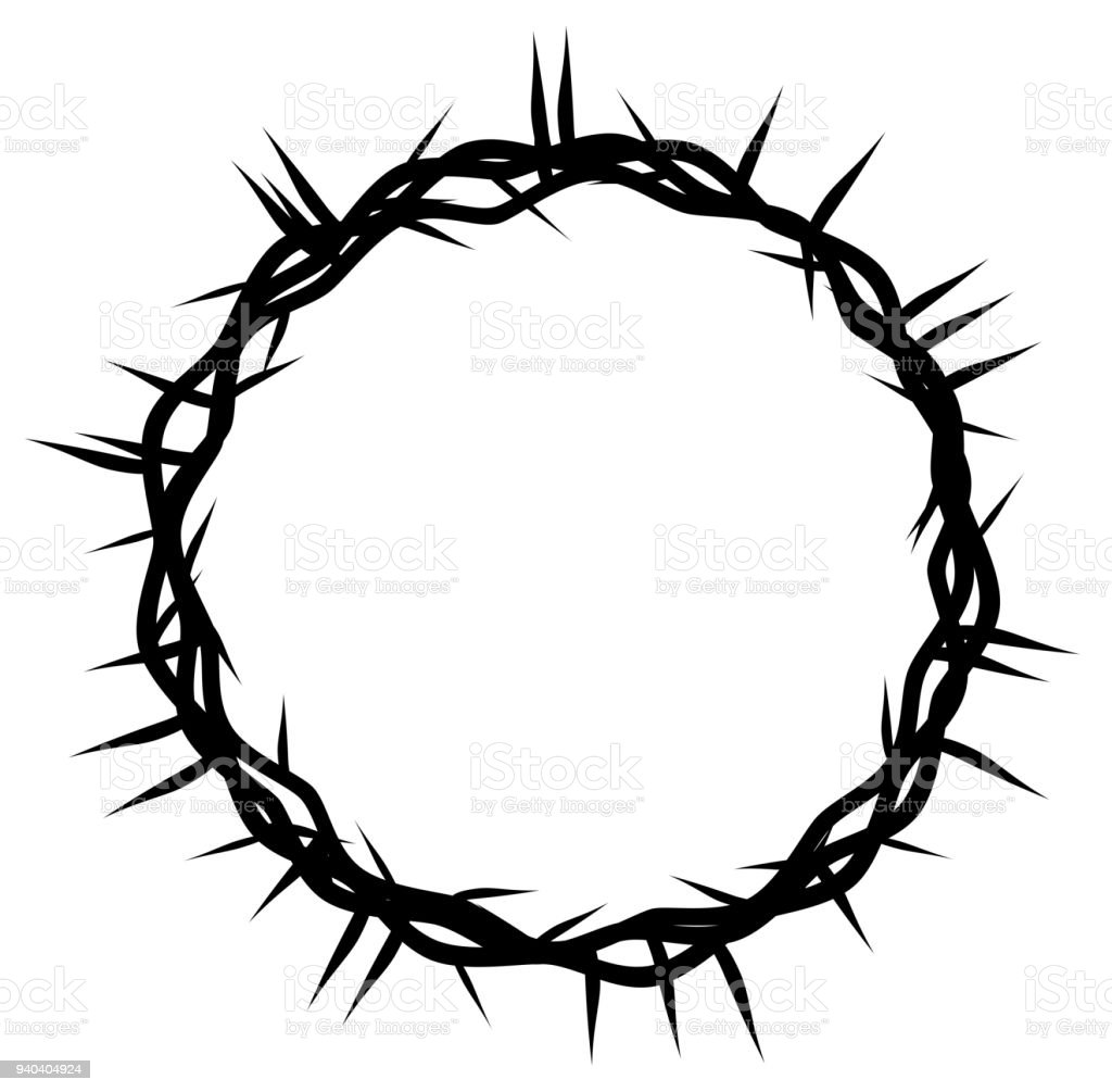 red crown of thorns easter religious symbol of christianity stock rh istockphoto com cross with crown of thorns vector crown of thorns vector free download