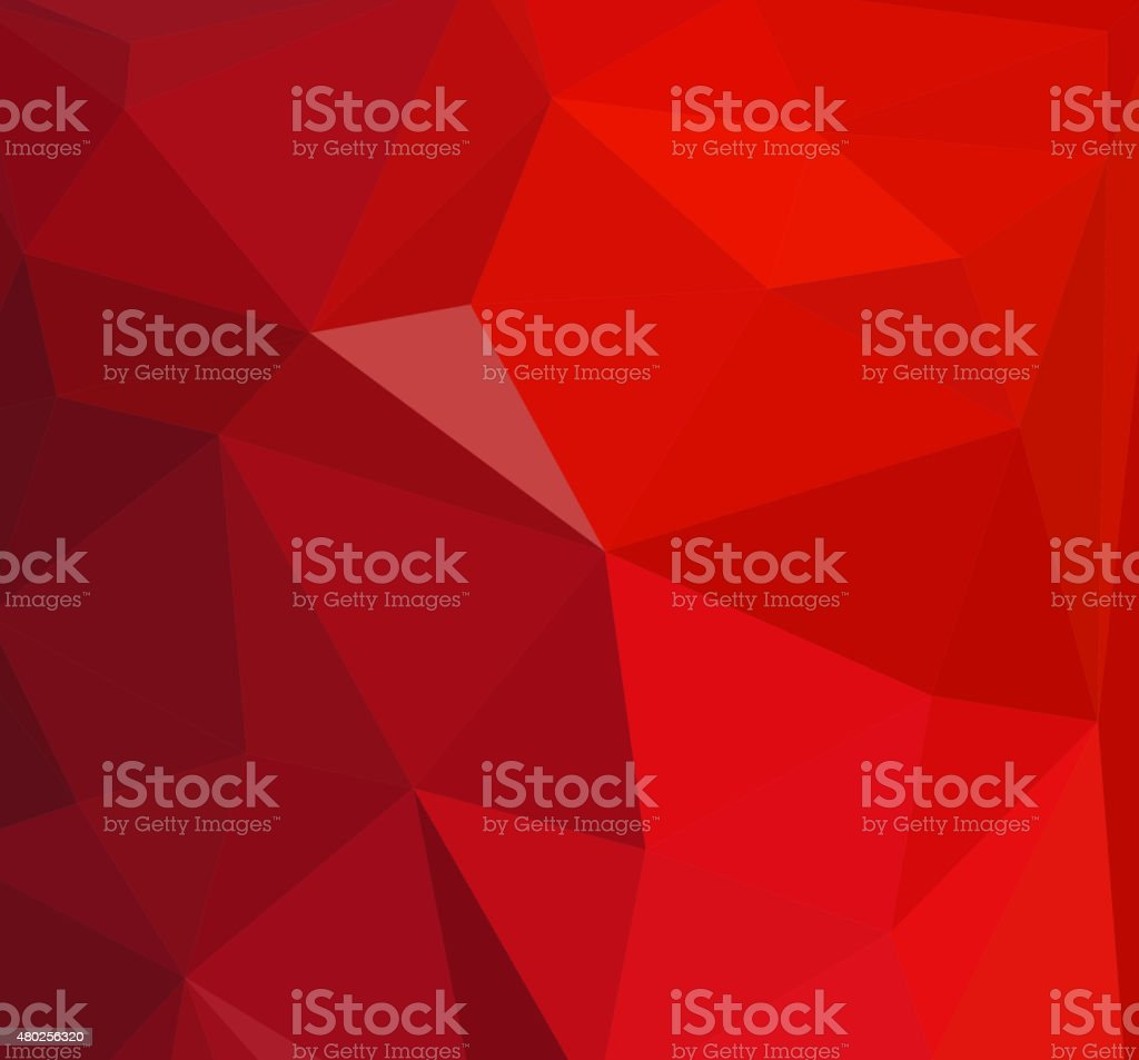 red crystal triangles vector abstract background vector art illustration