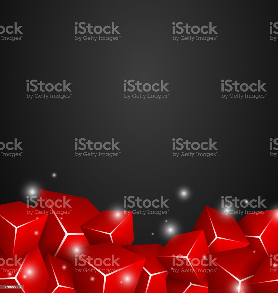 Red Cubes royalty-free red cubes stock vector art & more images of abstract