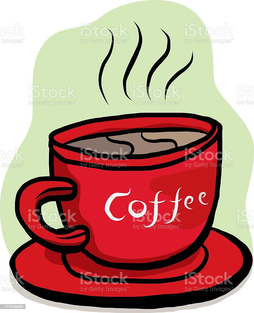 red cup coffee royalty-free stock vector art