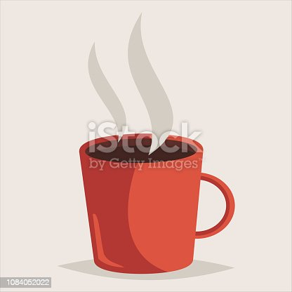 Cup of coffee vector illustration.