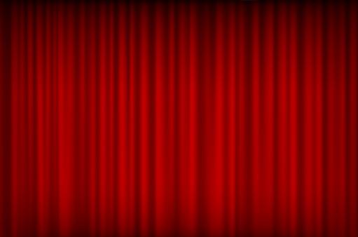 red curtain bg