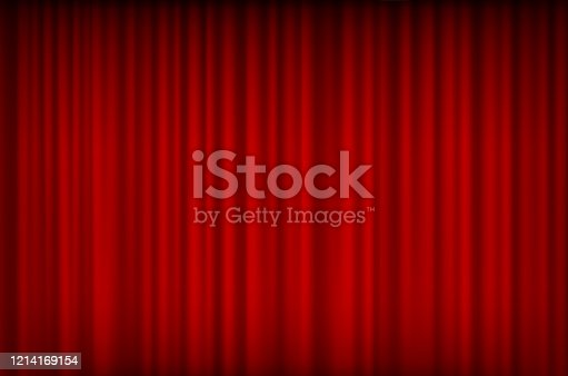 istock red curtain bg 1214169154