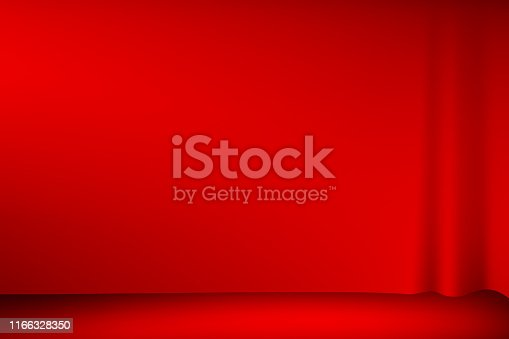 illustration theater red curtain on stage red carpet floor presentation background. use mash tool.