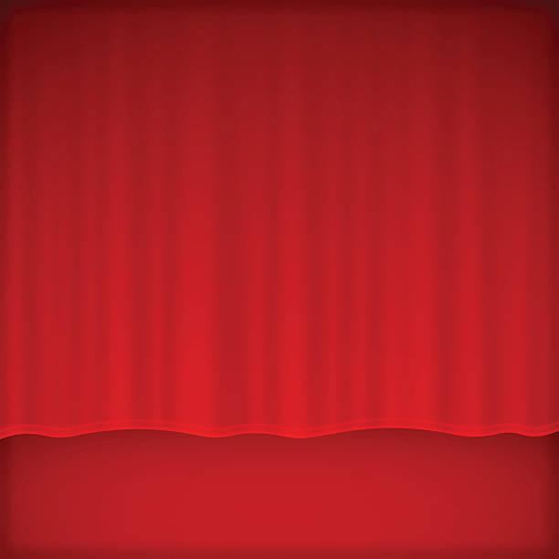 illustrazioni stock, clip art, cartoni animati e icone di tendenza di sfondo di cortina di fase e rosso - sipario