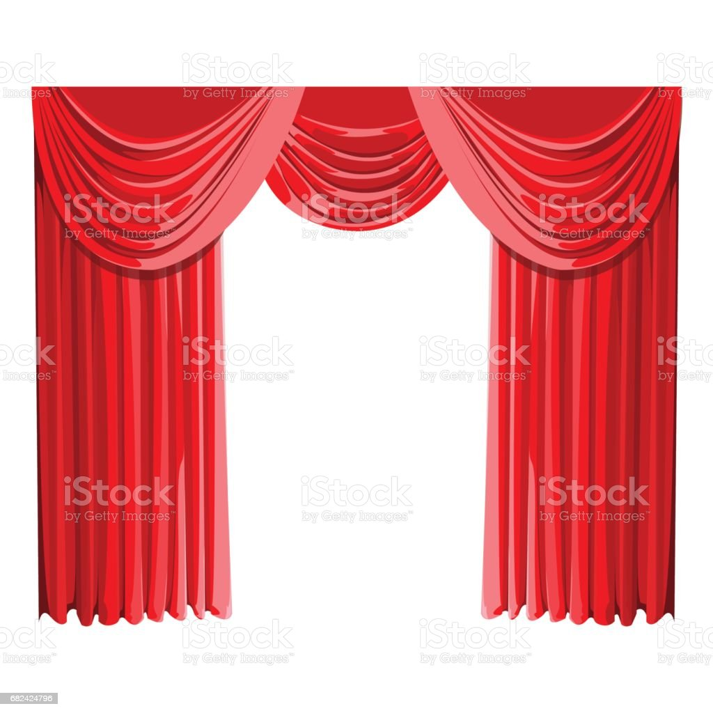 Red curtain royalty-free red curtain stock vector art & more images of art