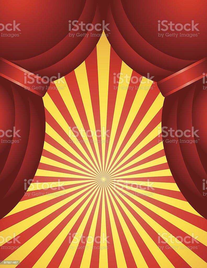 Rideau rouge avec pluie rideau rouge avec pluie – cliparts vectoriels et plus d'images de brillant libre de droits