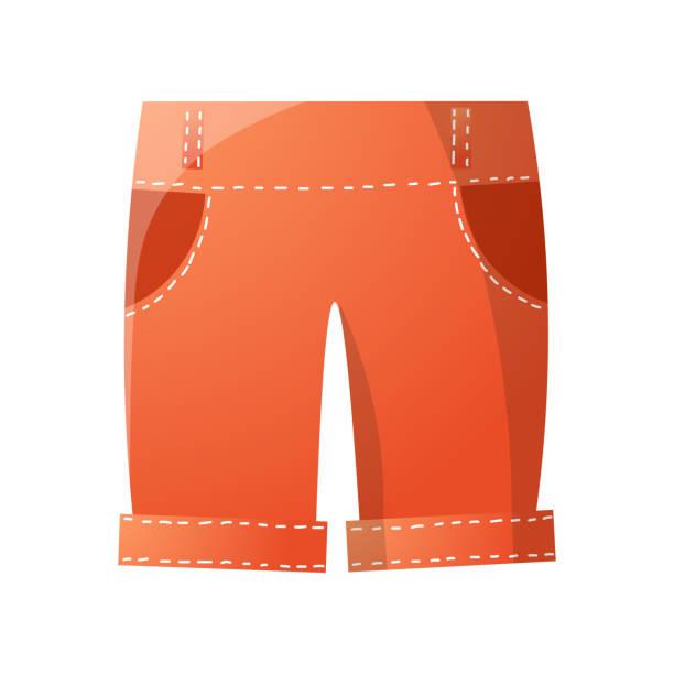 stockillustraties, clipart, cartoons en iconen met rode leuke trendy shorts voor de zomer golf spel - verleiding