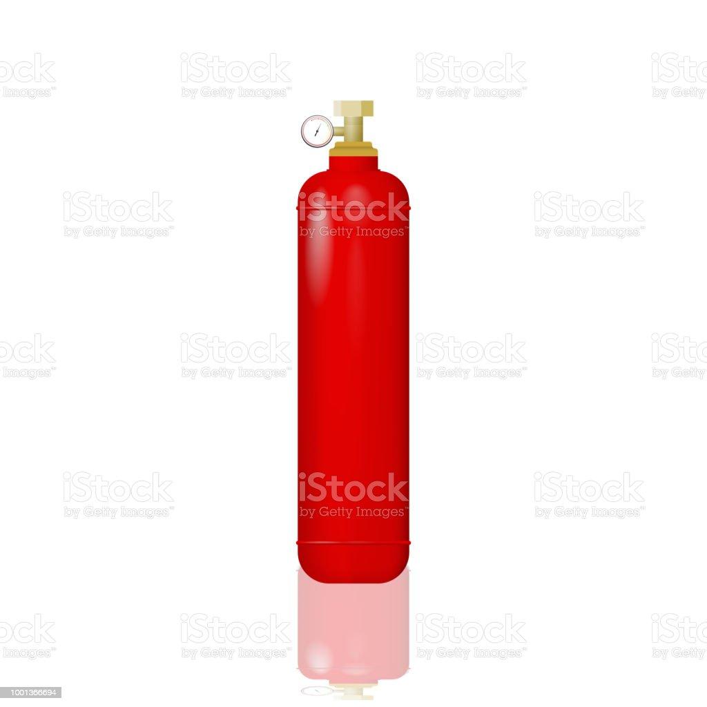 bouteille de rouge avec le gaz cliparts vectoriels et. Black Bedroom Furniture Sets. Home Design Ideas