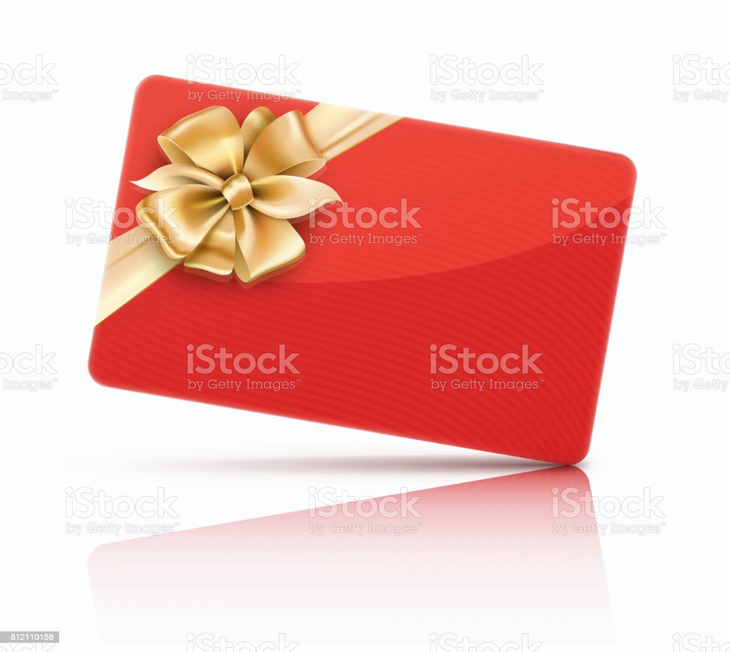 carte cadeau décoration rouge - Illustration vectorielle