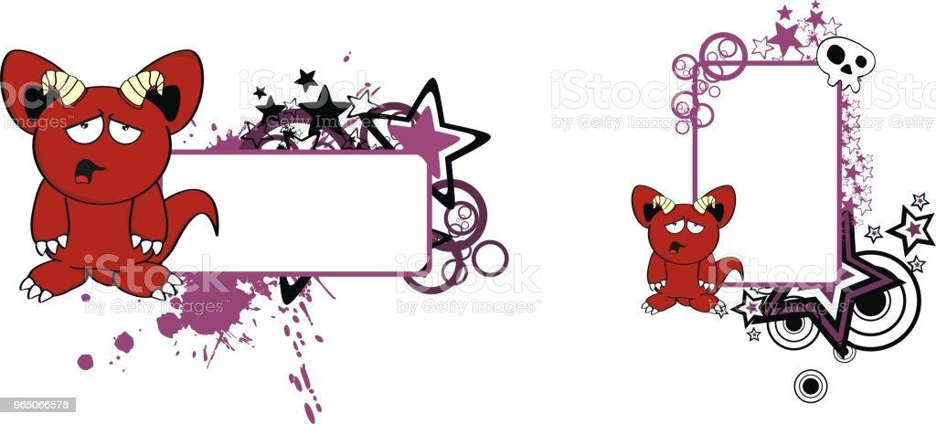 red demon cartoon expression copyspace set red demon cartoon expression copyspace set - stockowe grafiki wektorowe i więcej obrazów abstrakcja royalty-free