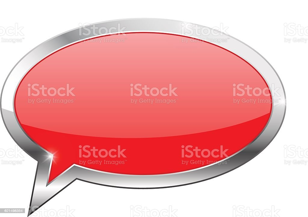 Red dialog bubble icon red dialog bubble icon – cliparts vectoriels et plus d'images de aspect métallique libre de droits