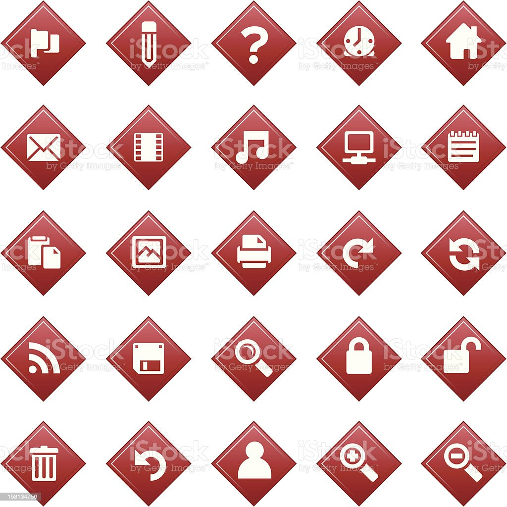Red diamond icons royalty-free red diamond icons stock vector art & more images of back arrow