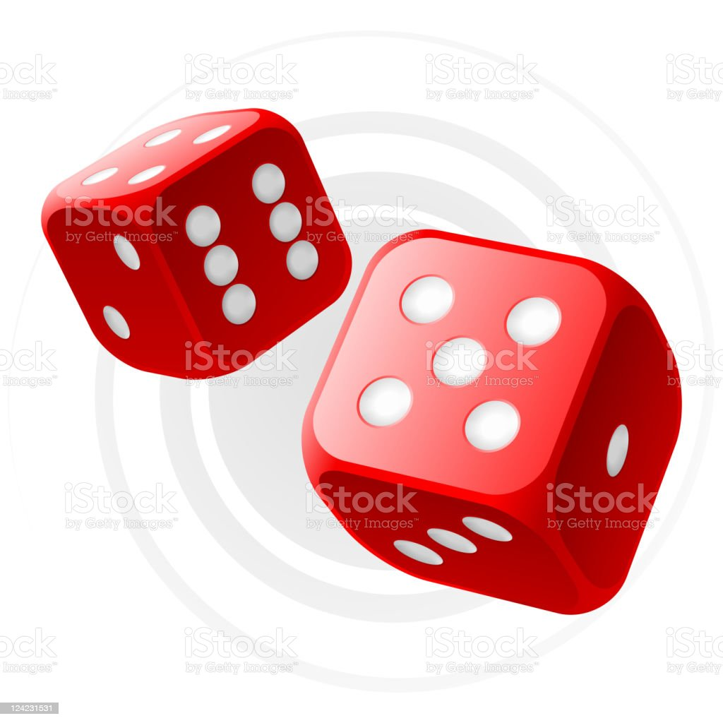 Red dices royalty-free stock vector art