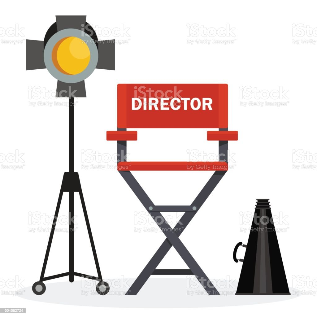 Remarkable Red Director Chair Stock Illustration Download Image Now Download Free Architecture Designs Licukmadebymaigaardcom