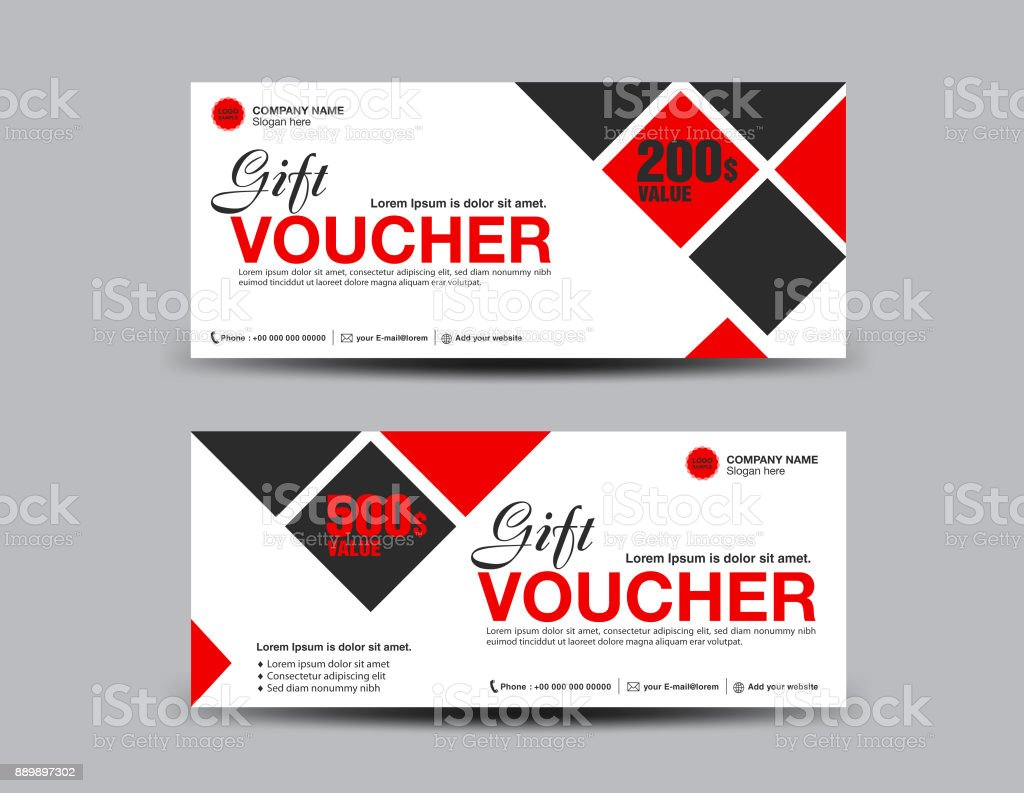 red discount voucher template coupon design ticket banner cards