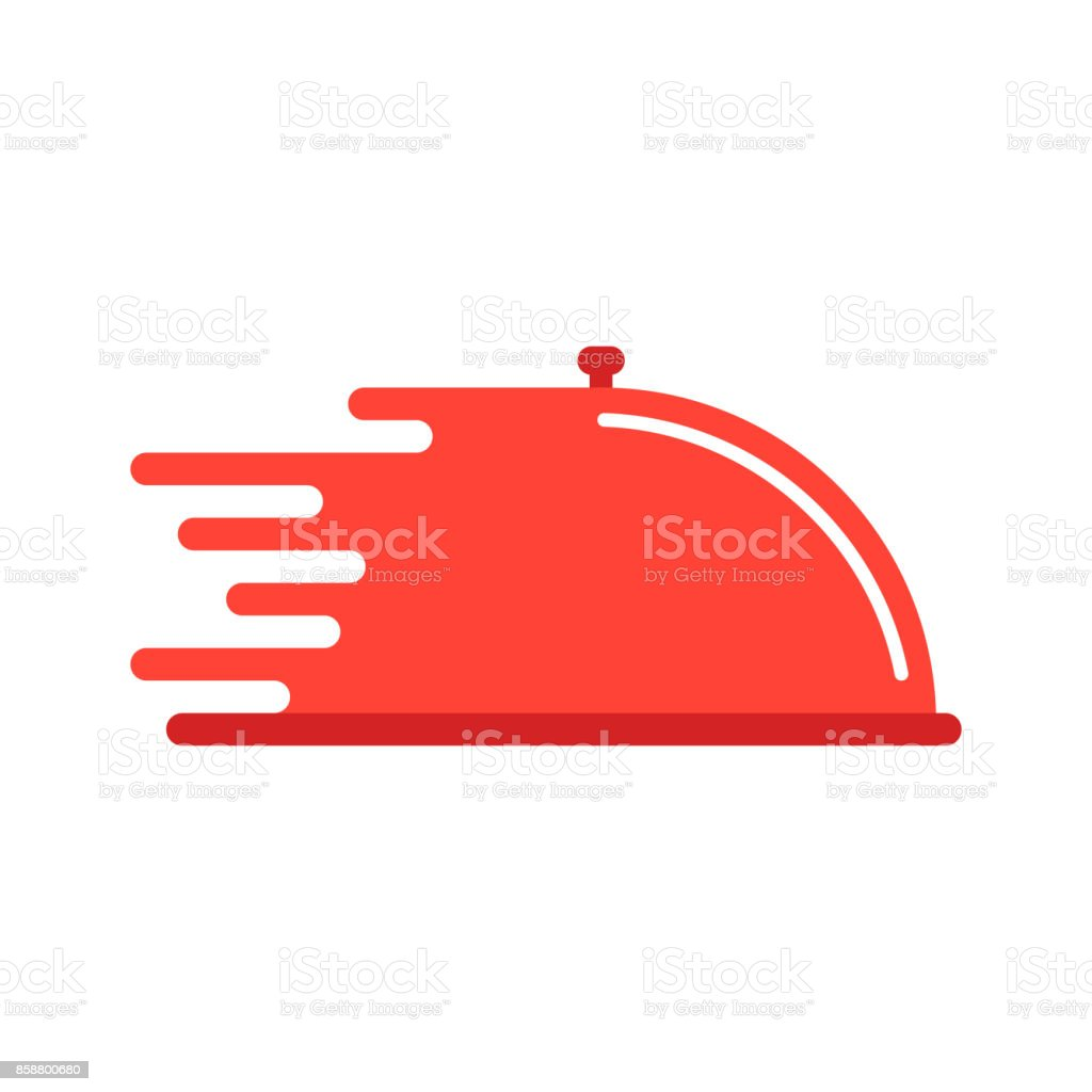 red dish like food delivery vector art illustration