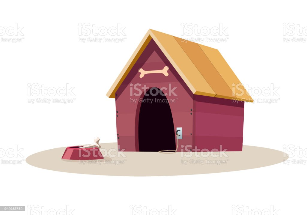 Red Dog House Stock Illustration - Download Image Now - iStock