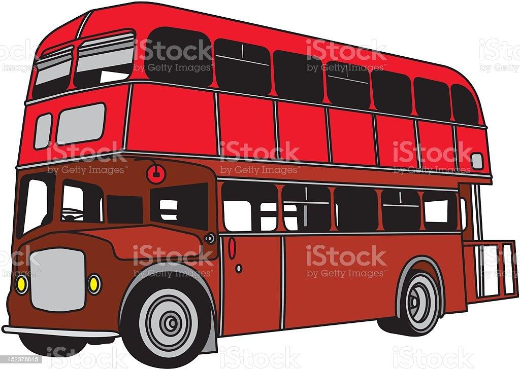 Rote Doppeldeckerbus Stock Vektor Art und mehr Bilder von ...