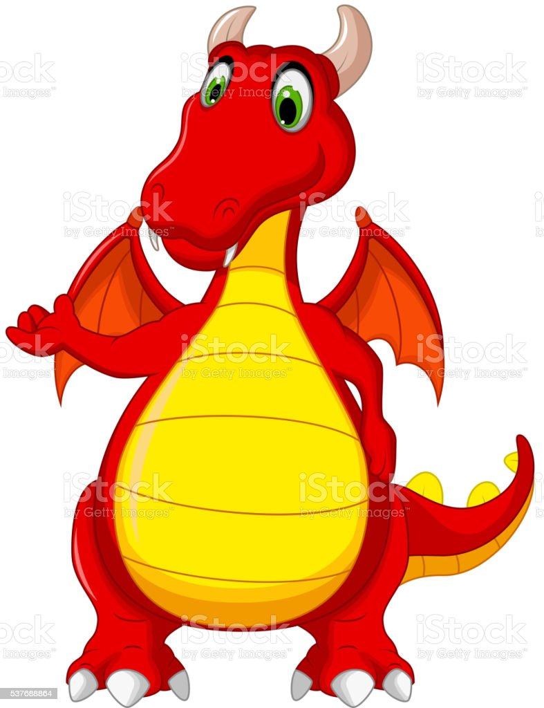 Red Dragon Cartoon Posing Stock Vector Art More Images Of Animal Rh Istockphoto Com Body Parts Monster
