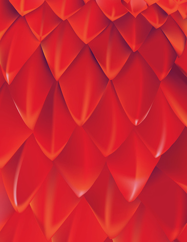 Red Dragon Scale Background with White Highlights. The scales are highly detailed and 3 dimensional. They were created using gradient mesh.
