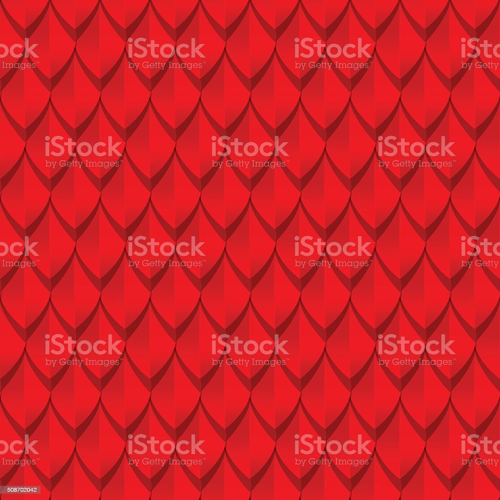 Red dragon scales seamless background texture vector art illustration