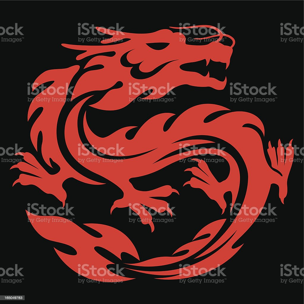 red dragon royalty-free stock vector art