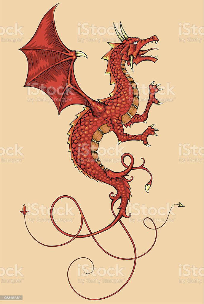 Red Dragon royalty-free red dragon stock vector art & more images of animal representation